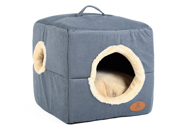 Hoopet New Washable Pets Cat House Cozy Cave Warm Soft Cave Bed Portable Hammock Sleeping Bed for Cat All Seasons (7)