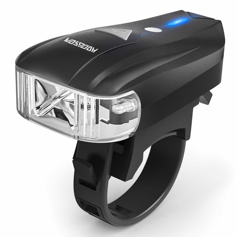 USB Rechargeable Bicycle 400 LM LED Headlight Smart Sensor