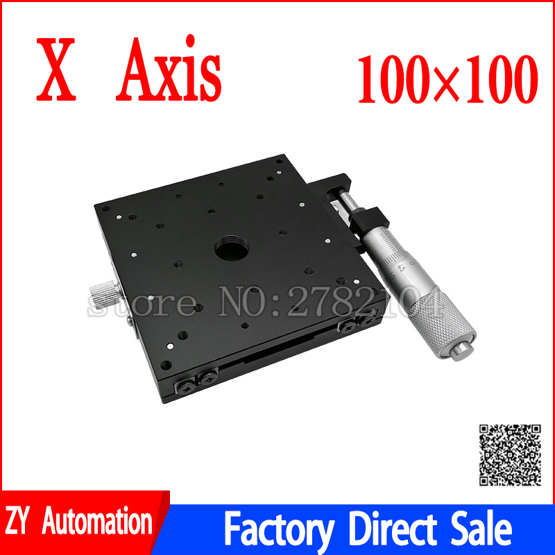 X Axis 100x100 Trimming Platform Manual Linear Stages Bearing Tuning Sliding Table X100 L X100 C