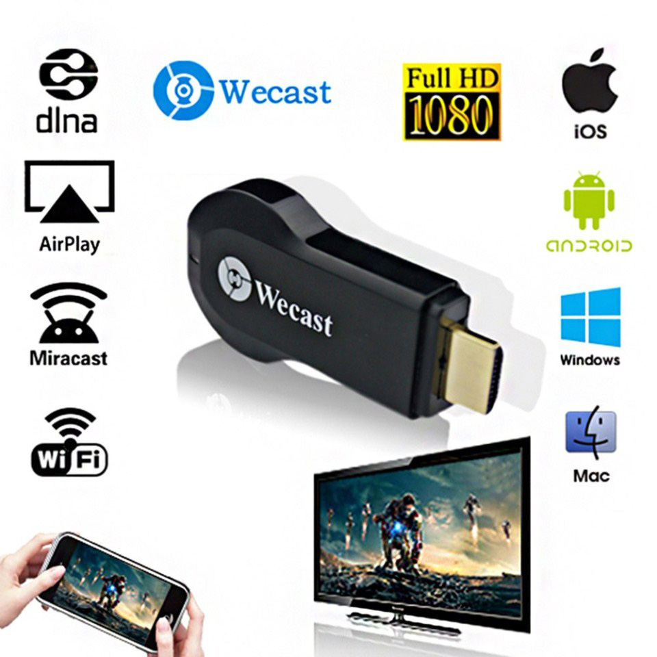Wecast C2+ Wireless WiFi Display TV Dongle HDMI Streaming Media Player Airplay Mirroring Miracast DLNA For Android/IOS/Windows