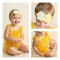2016 nueva Correas Bebé ropa de Escalada Ropa De Bebé Volante de Encaje de Moda Niño Niñas Mameluco Del Bebé Colorido Traje color de la mezcla