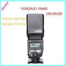 Yongnuo speedlite yn685 yn-685 hss ttl de flash inalámbrico speedlite para canon 1dx series 1Ds 1D 5 DIII 7DII 5D 5D 7D 70D 60D 50D, 40D
