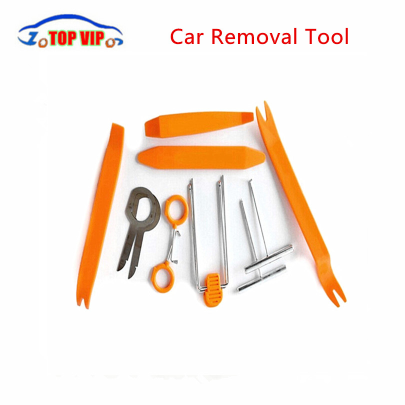 Car Dashboard Dismantling Installation Tools Stereo Refit Tool Kit Set 12pcs Door Interior Trim Panel Removal Disassembling Pry