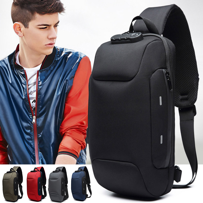 Anti-theft Backpack With 3-Digit Lock Shoulder Bag Waterproof For Mobile Phone Travel LT88