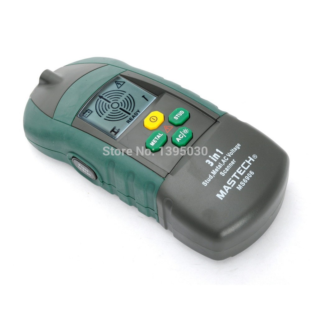 6pcs/lot MASTECH MS6906 3 in 1 Multi-function Stud Metal AC Voltage Scanner Detector Tester Thickness Gauge  цены