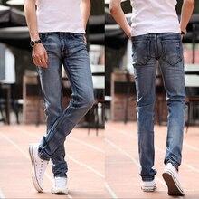 Весна и лето Эластичность тонкий джинсы для мужчин мода новые марка дизайн повседневная мужчины брюки Бесплатная Доставка MF8592413
