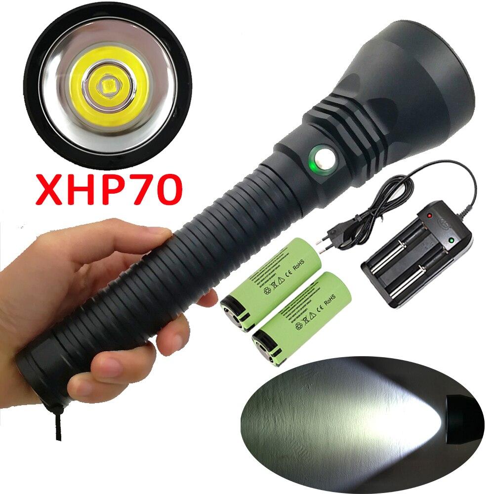Led Lighting Lights & Lighting 5000lm Xhp70 Led Scuba Diving Flashlight White Light Waterproof Underwater Flash Light Dive Lamp Torch