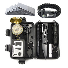 A5 Outdoor Equipment Survival Box Survival Tool Set Multifunctional Field First Aid Box SOS Emergency Supplies