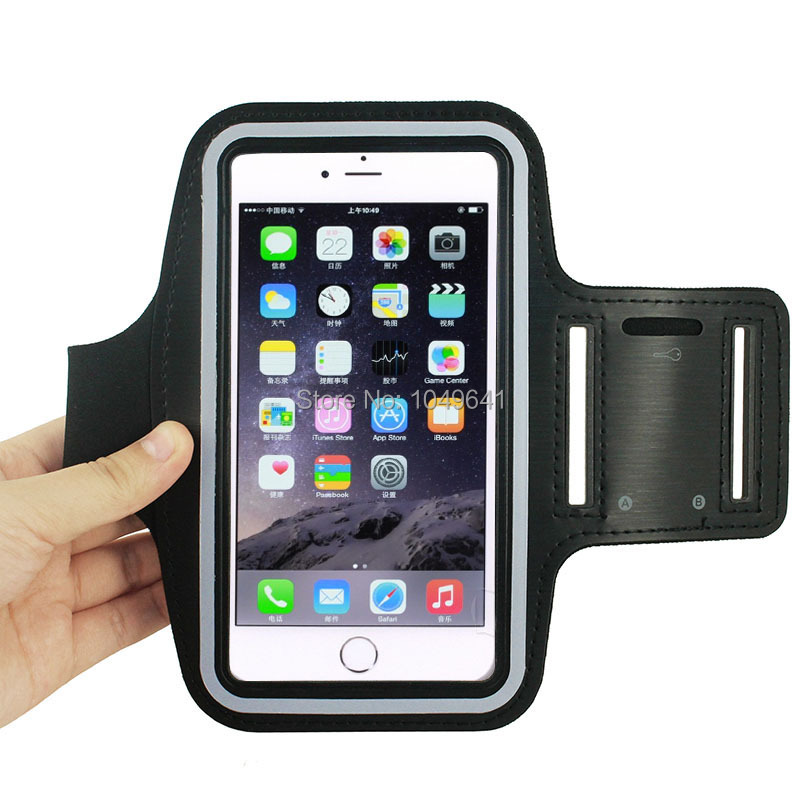KIP6-1323_4_Sport Armband Case with Earphone Hole & Key Pocket for Sport Armband Case with Earphone Hole & Key Pocket for iPhone 6 Plus Senseit E500 Prestigio Muze D3 Xiaomi Redmi Note 3 Coolpad Modena