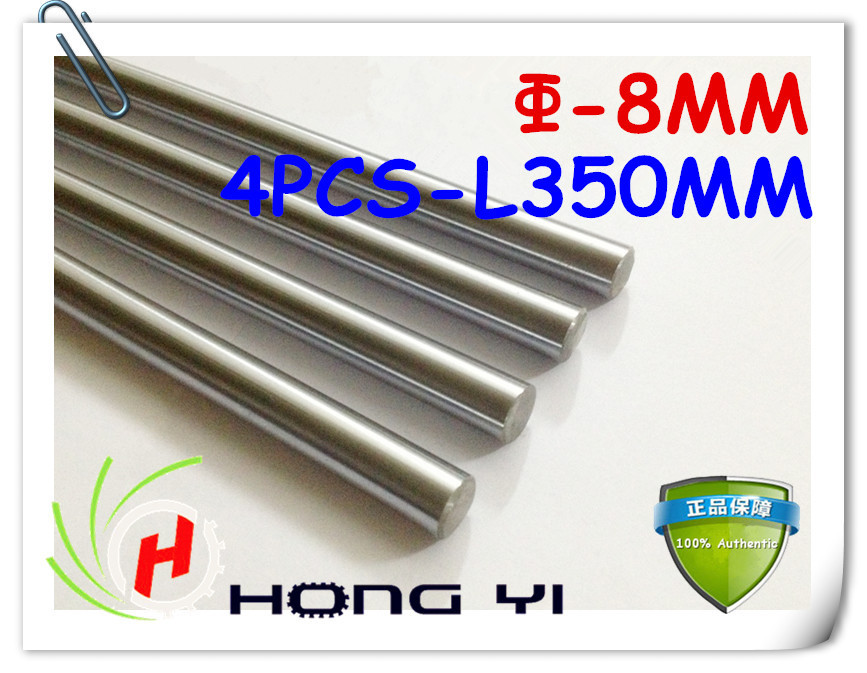 Free shipping 4pcs SFC8 mm - L350mm chrome plated Cylinder Linear Rail Round Rod Shaft Linear Motion Shaft for CNC XYZ chrome plated wired control plate for jazz bass total approx 152 54 mm l 344