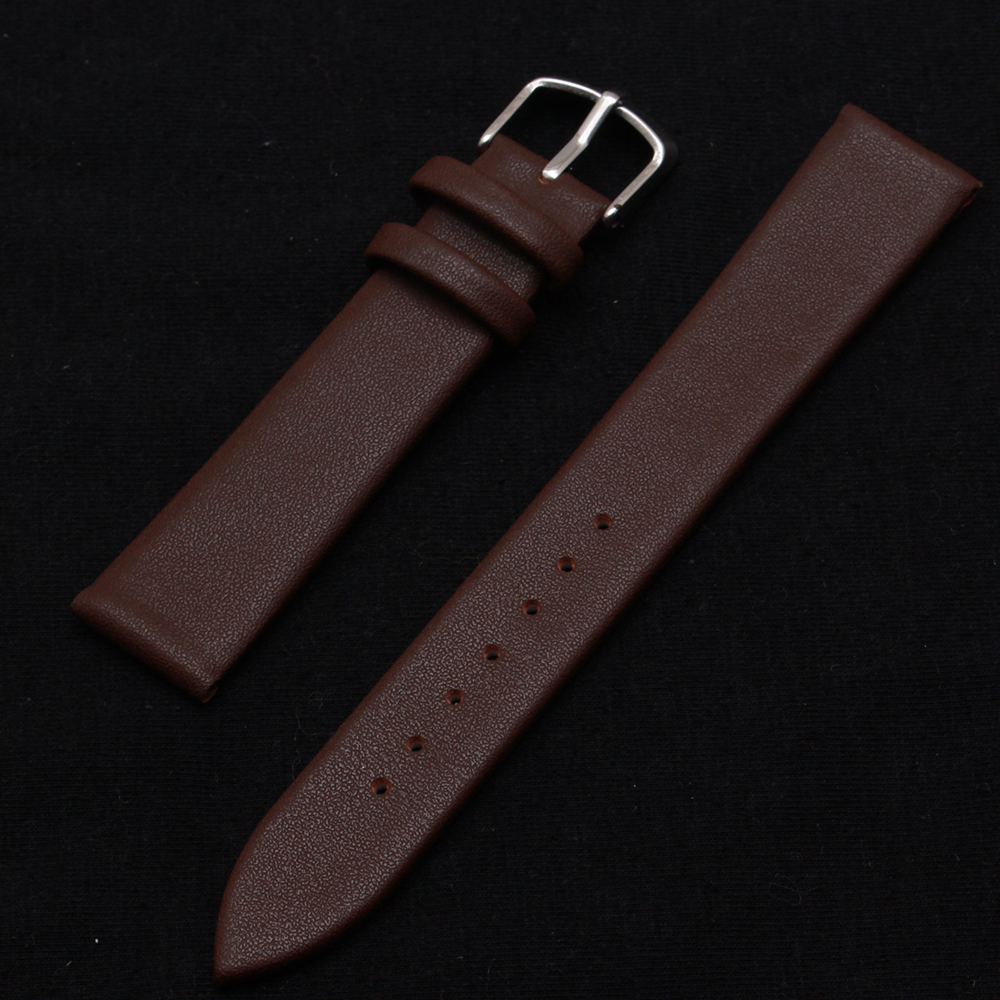 Promotion Brown watchband cowhide skin smooth watch accessories strap bracelet replacement men hours 14mm 16mm 18mm 20mm 22mm janome juno 2015