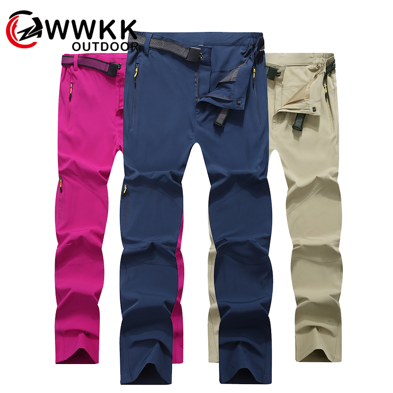 WWKK Men's Outdoor Camping Thin Section Softshell Autumn Tactical Trousers Waterproof Windproof Male Pants Trekking Climb Hiking