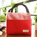 Square plaid zipper  small bag tote shopping bag lunch bags pleasedial bag