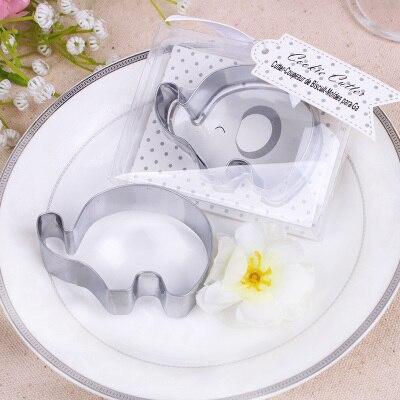 Free Shipping 50pcs lot Wedding Favors ELEPHANT COOKIE CUTTER LITTLE PEANUT
