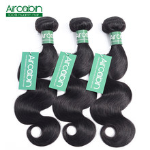Brazilian Body Wave Bundles Human Hair Weave 3 Bundles AirCabin Remy Hair Extensions Natural Black Can Be Dyed and Bleached(China)