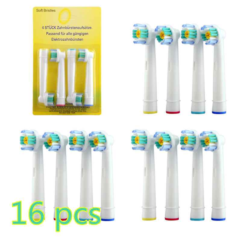 20 16 Pcs set Electric Toothbrush Heads EB 18A Replacement for Oral Dual Clean Pro care