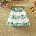 2016 летний новый евгений пряжи юбка талии эластичный пояс женский полосатый юбка MY47