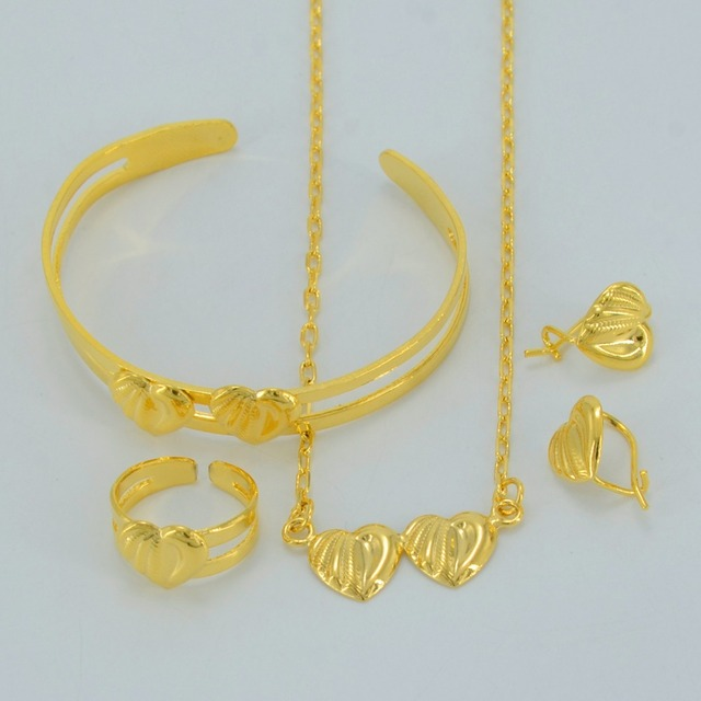 Anniyo Children Jewelry sets NecklaceEarringsRingBangle Kids