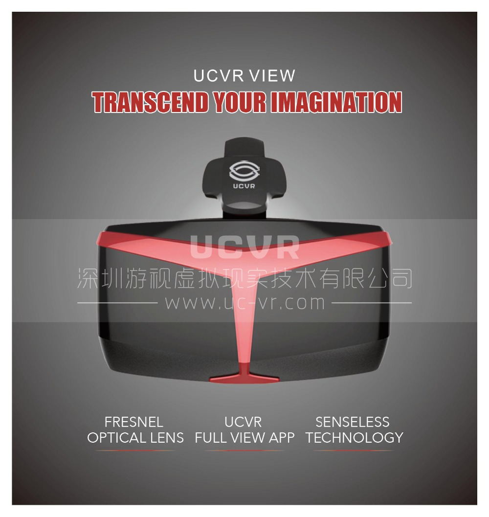 TOP quality 3D <font><b>VR</b></font> <font><b>Glasses</b></font> <font><b>UCVR</b></font> 360 Full <font><b>View</b></font> Immersive Games for 5-5.7 Inch Smart Phone Binocular