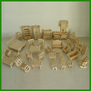 Wooden model of three-dimensional puzzle/ 3d assembling educational toys/ furniture puzzles/ Free shipping