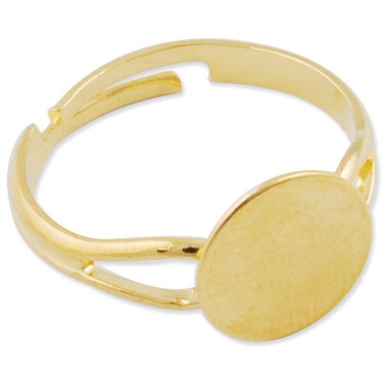 07da69f1b96d ▻50 unids 10mm pad DIY oro anillo Bases