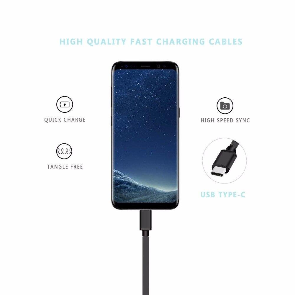 Samsung Galaxy S9 S9 + S8 S8 + S10 S10E Note 8 8 A3 A5 A7 2017 Data USB kabel Typ C snabb laddning För xiaomi 5 MIX