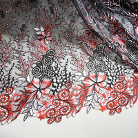 1Meter Embroidery Lace Fabric Flower Lace Trim Lace Applique Tablecloths Curtains Diy Materials Wedding Accessories