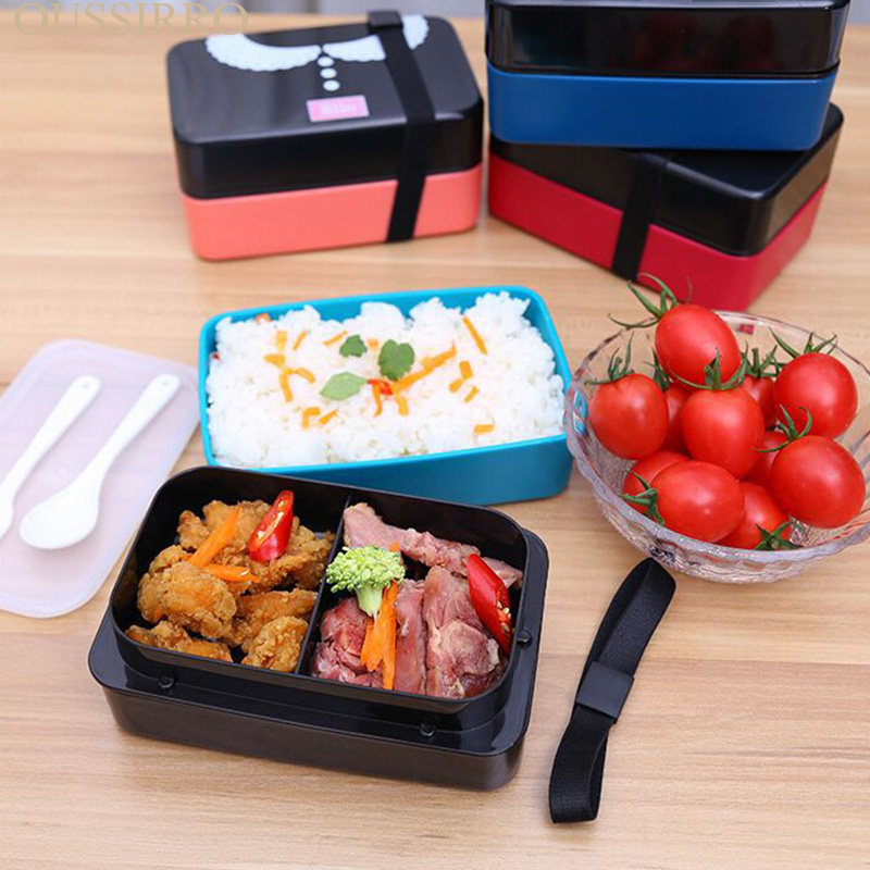 Environmental Protection Microwave Oven Food Box Dinner Box Double deck Two Layers Lunch Food Container