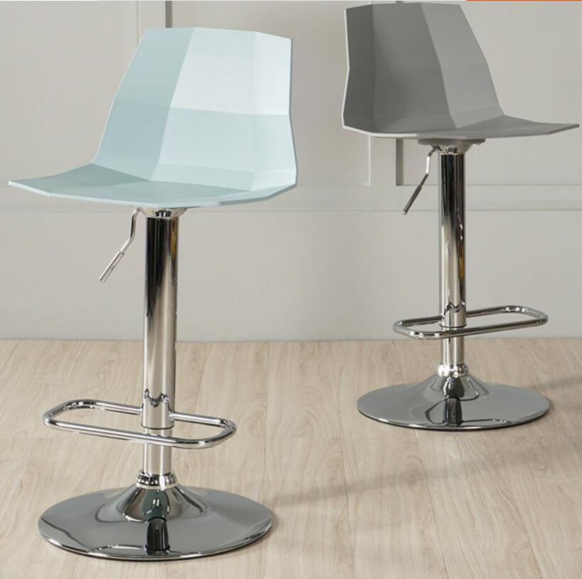 Nordic Bar Stool Back Home Modern Minimalist Bar Stool Rotating High Stool Creative Cashier Lift Bar Chair