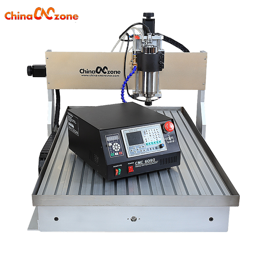 CNC 6090 3axis 2200w Engraving Water Cooling Carving Machine PCB Aluminum Copper Metal Milling Machine for Stone Cutting cardan cooling water pipe mist spray cooling water injection cooling for accessories stone jade plasma engraving machine