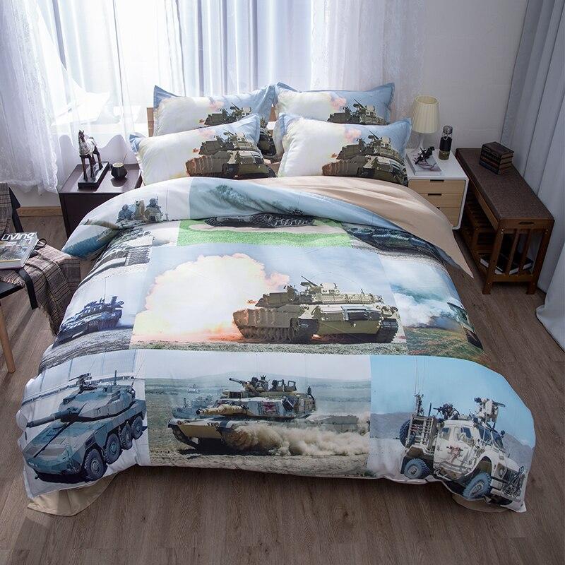 tank airplane military ship gun decorations men bedding set twin queen king size duvet cover bed sheets pillowcase for teen boys