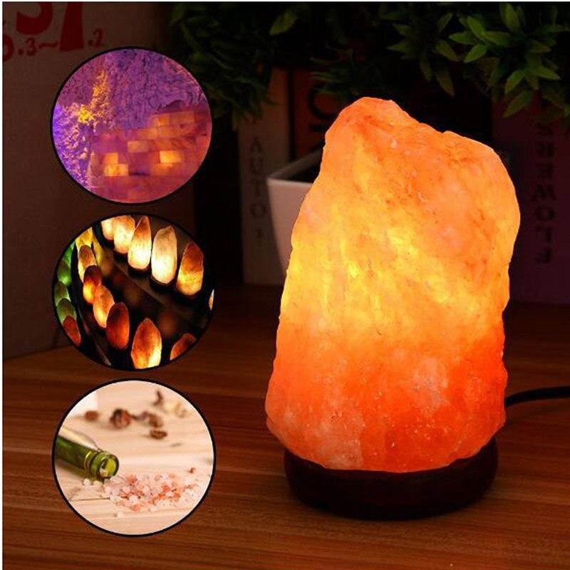 US/EU Plug Himalayan Salt Lamp Natural Pink Night Light Salt Lamps Hand Carved Sea Salt Crystals for Air Purifier Bedside Lamp sea air sea air evropi lp cd