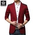 Hot Sale New Sping Fashion Brand Red Blazer Men Casual Suit Jacket Splice Men Slim Fit Suits Two Button Men Suit Men 3XL