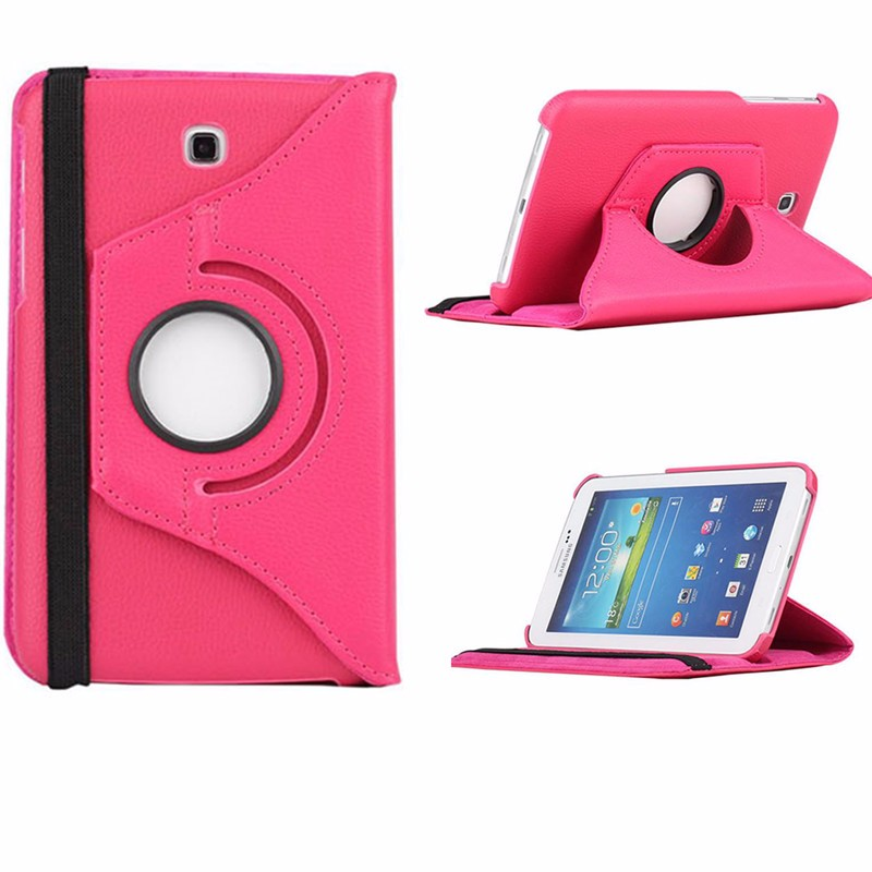 360 Degree Rotating PU Leather Flip Case For Samsung Galaxy Tab 3 7.0 P3200 P3210 SM-T210 7 inch Tablet  Stand Case Cover 360 degree rotating flip folio swivel stand smart case cover for samsung galaxy tab a 9 7 inch sm t550 tablet screen protector