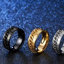 Misheng Fashion Mens Jewelry Stainless Steel Ring Viking Pirate Guardian Text Trend Geometry Index Finger Accessories Gift 2019