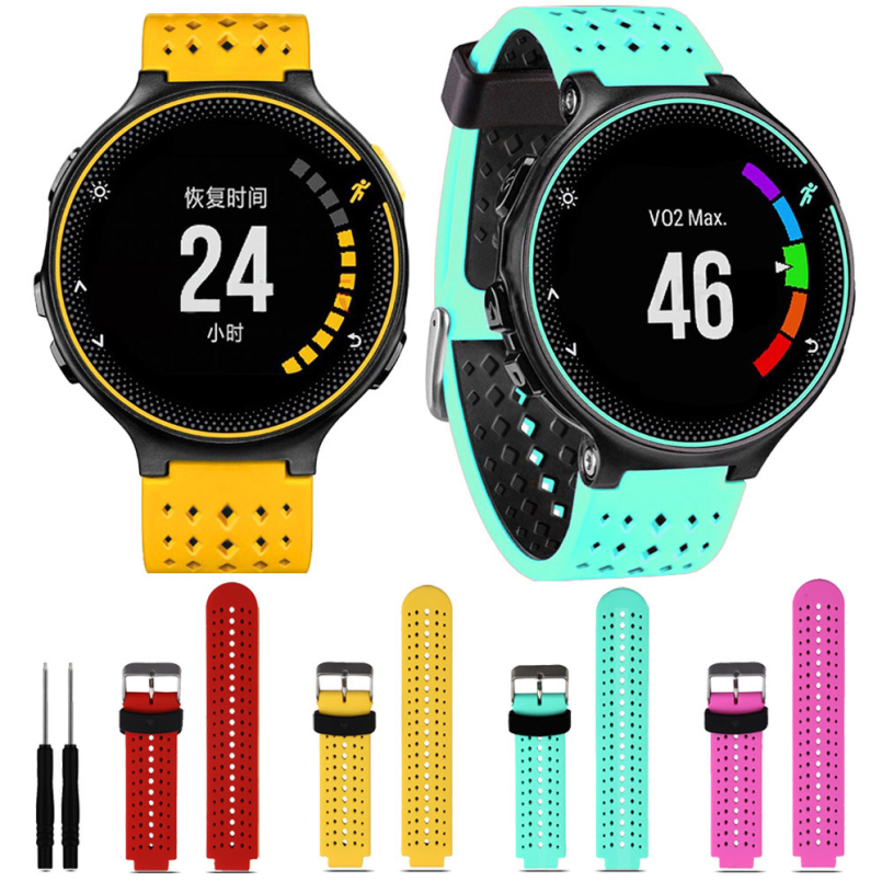 Excellent Quality Watch Bands Soft Silicone Replacement Wrist Watch Band for Garmin Forerunner 230/235/630 New Design