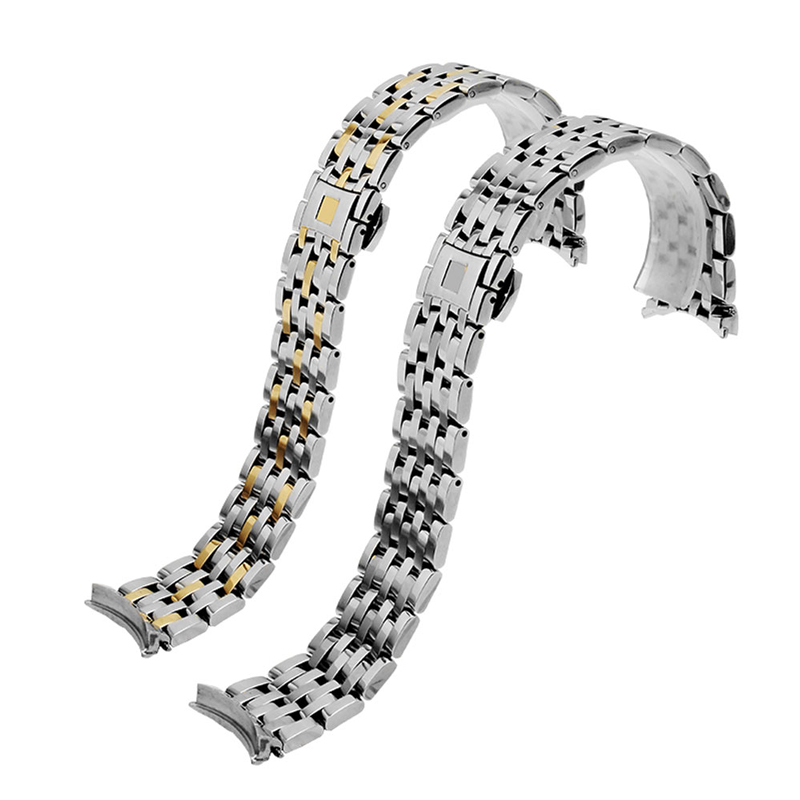 PEIYI Watchband 20mm Stainless Steel Strap Deployment buckle Replacement Metal Wristband men watch steel bracelet for omega Watchbands     - title=