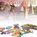 7 maravilhas jogo de tabuleiro, versão inglês e Chinês sete maravilhas material adequado para a festa de alta qualidade cartões de jogo