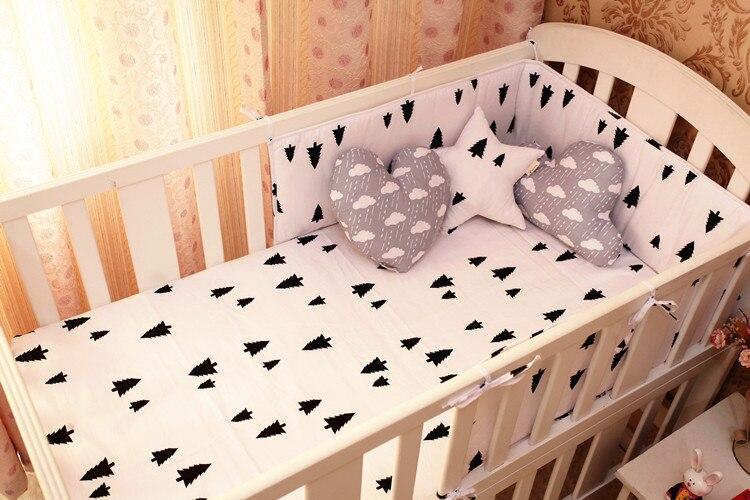 Promotion! 6PCS cotton Crib Baby bedding sets piece set crib set 100% cotton  (bumpers+sheet+pillow cover)  promotion 6pcs baby bedding piece set 100