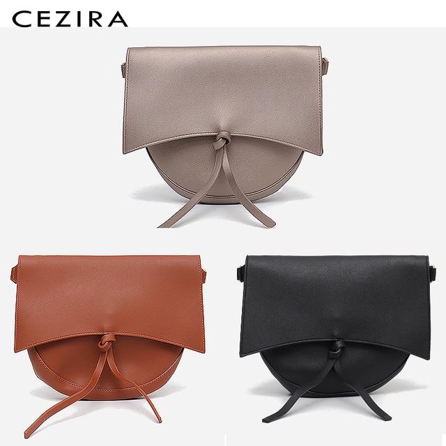 CEZIRA Brand Designer Women Shoulder Flap Bags High Quality Vegan Leather Handbag Ladies Solid Girl Fashion Cross body Messenger 2