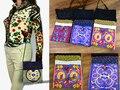 3 pcs Vintage Hmong Thai Ethnic Shoulder purse bag set linen colorful embroidery SYS-274