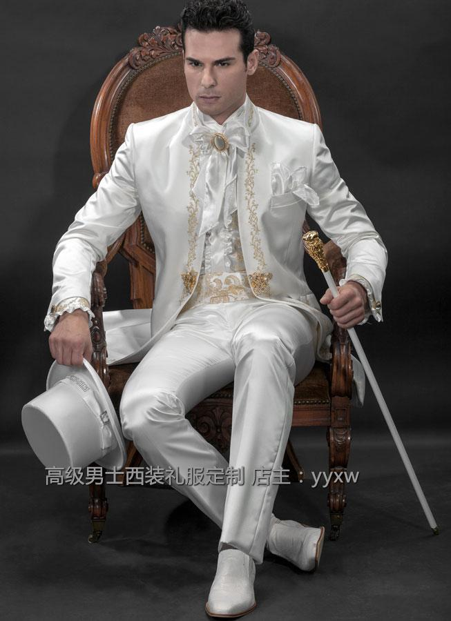 High Quality White Men Suit Mens Complete Designer Tuxedo Bride ...