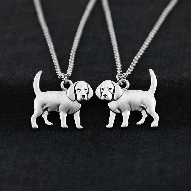 Fei Ye Paws Կանանց Վզնոց Punk Beagle & Coonhound Dog - Նորաձև զարդեր - Լուսանկար 5
