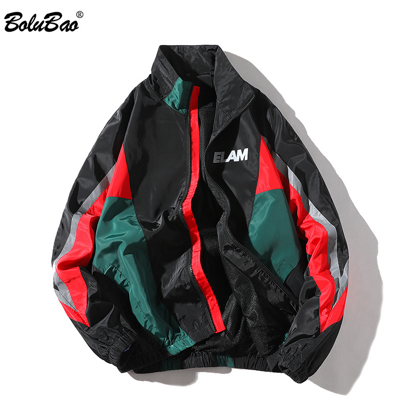 BOLUBAO Fashion Brand Jackets Mens 2019 Spring Autumn Hip Hop Tracksuit Coat Cardigan StreetWear Man Splice Fashion Jacket