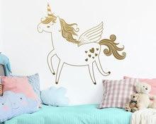 Autocollant mural en vinyle licorne mignon