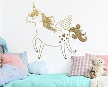 Cute Unicorn Vinyl Wall Decal Removable Sticker Girl Child Baby Room Kindergarten Decorative Wall Sticker Wallpaper ER52