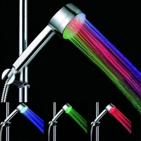 1PCS Xueqin Shower Head Automatic Color Changing Lighted Glow Light LED Health Care Shower Heads With