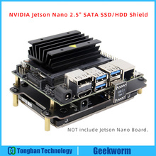 NVIDIA Jetson Nano 2.5 인치 SATA SSD/HDD 스토리지 확장 보드 USB 3.1 T300 for NVIDIA Jetson Nano Developer Kit A02/B01