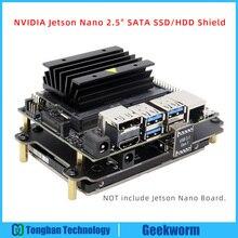 Nvidia jetson ナノ 2.5 インチ sata ssd/hdd シールドストレージ拡張ボード usb 3.1 T300 V1.0 nvidia の jetson ナノ開発キット