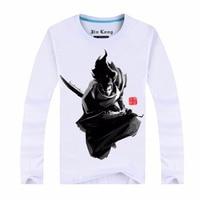 Brdwn Ezreal 칼리 트위스트 운명 리 신 Teemo Jarvan IV 카타리나 남녀 잉크 그림 긴 소매 티셔츠